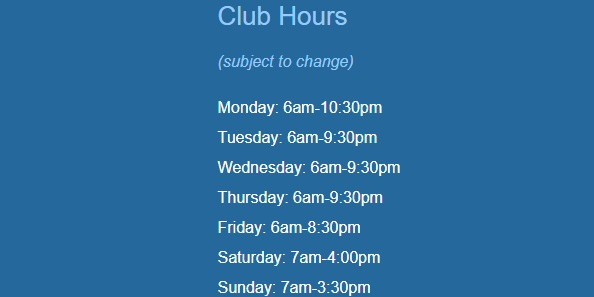 New Hours Starting 9/8/20